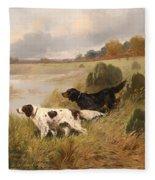 Dogs On The Scent Fleece Blanket