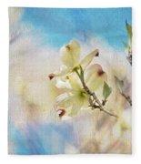 Dogwood Against Blue Sky Fleece Blanket