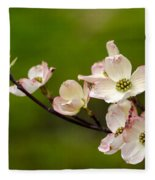 Dogwood Flowers Fleece Blanket