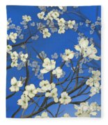 Dogwood Trees Fleece Blanket