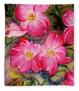 Dogwoods In Pink Fleece Blanket