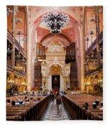 Dohany Street Synagogue In Budapest Fleece Blanket