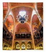 Dohany Synagogue In Budapest Fleece Blanket