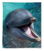 Dolphin Smile Fleece Blanket