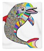 Dolphin - The Devil's In The Details Fleece Blanket