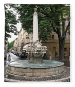 Dolphinfountain - Aix En Provence Fleece Blanket