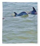 Dolphins 2 Fleece Blanket