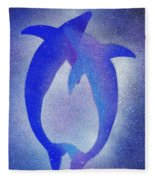 Dolphins 3 Fleece Blanket