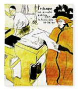 Domain-le Stamp Fleece Blanket