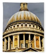 Dome Of St. Paul's Cathedral Fleece Blanket