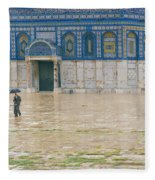 Dome Of The Rock Fleece Blanket