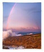 Dominican Rainbow Fleece Blanket
