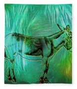 Donkey-featured In Nature Photography Group Fleece Blanket