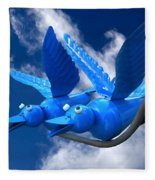 Donna's 1st Blue Bird Flight Fleece Blanket
