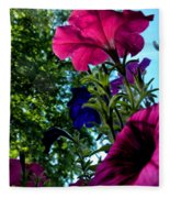 Donna's Blooming Petunias Fleece Blanket