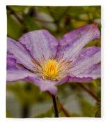 Donna's Purple Flower Fleece Blanket