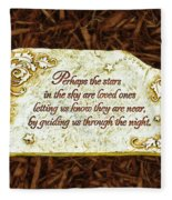 Donna's Special Message Fleece Blanket
