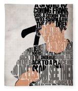 Donnie Darko Minimalist Typography Artwork Fleece Blanket