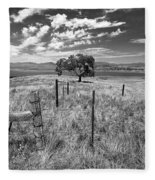Don't Fence Me In - Black And White Fleece Blanket