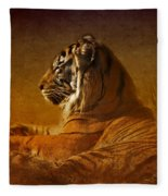 Don't Wake A Sleeping Tiger Fleece Blanket