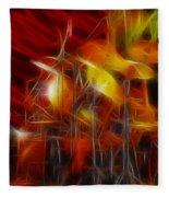 Doobies-93-keith-gg4-fractal Fleece Blanket