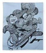 Doodle - 02 Fleece Blanket