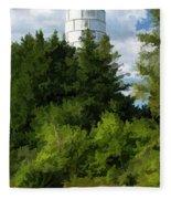 Door County Cana Island Vertical Panorama Fleece Blanket