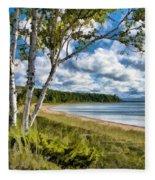Door County Europe Bay Birch Fleece Blanket