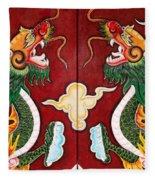Door Dragons 03 Fleece Blanket