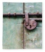 Door Lock Fleece Blanket