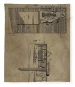 Door Lock Patent Fleece Blanket
