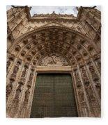 Door Of Assumption Of The Seville Cathedral Fleece Blanket