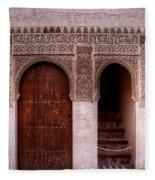 Door Of The Court Of The Myrtles 2 Fleece Blanket