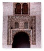Door Of The Court Of The Myrtles 3 Fleece Blanket