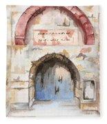 Door Series - Door 4 - Prison Of Apostle Peter Jerusalem Israel Fleece Blanket