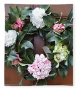 Door Wreath Fleece Blanket