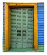 Doors And Windows Buenos Aires 14 Fleece Blanket