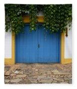 Doors And Windows Minas Gerais State Brazil 11 Fleece Blanket