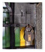 Doors And Windows Minas Gerais State Brazil 12 Fleece Blanket
