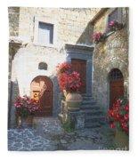 Doors In Bagnoregio Fleece Blanket