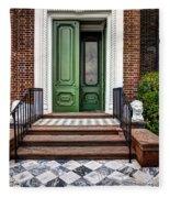 Doors Of Historic Charleston Fleece Blanket