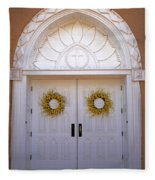 Doors Of San Francisco De Asis Fleece Blanket