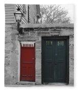 Doors Of St. Augustine Fleece Blanket