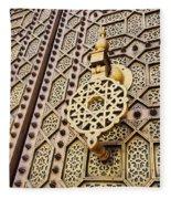 Doors Of The Hassan Mosque In Rabat Fleece Blanket