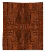 Doors Of Zanzibar Cayenne Fleece Blanket