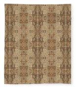 Doors Of Zanzibar Ginger Fleece Blanket