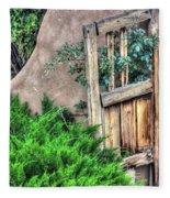 Door, Santuario De Chimayo Fleece Blanket