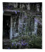 Doorway And Flowers Two Fleece Blanket