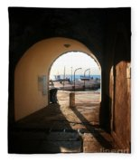 Doorway To The Sea Fleece Blanket