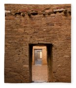 Doorways In Pueblo Bonito Fleece Blanket